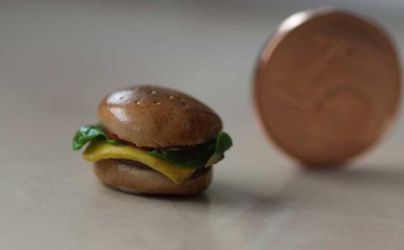 Cheesburger aus Fimo
