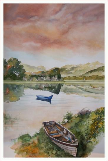Killarney Nationalpark, Fabriano 600g  satiniert, 55 x 39 cm