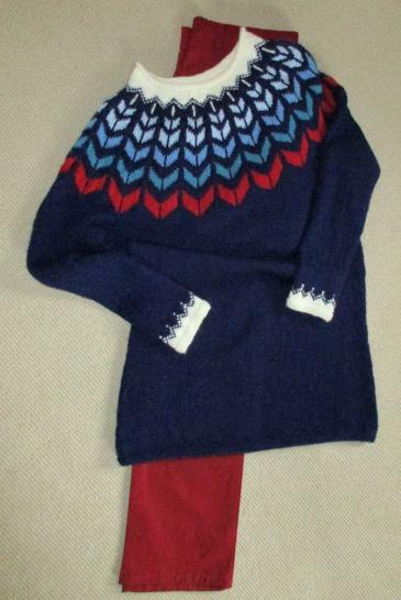 Norweger Pullover, Drops Wolle, Anleitung nach Drops